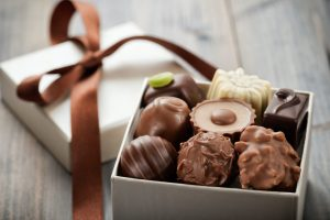 Ethical gift, a box of fairtrade chocolate