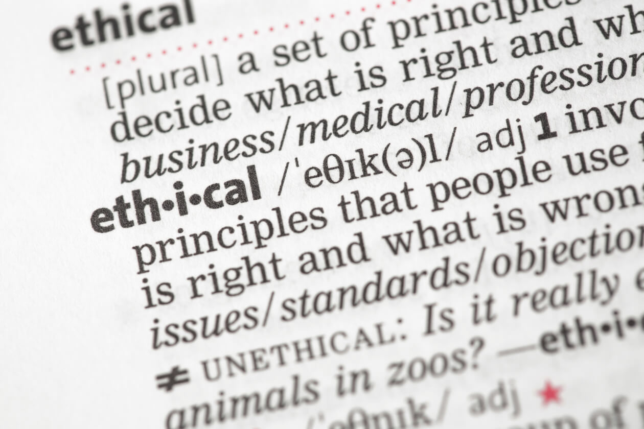 Ethical Meaning in Dictionary