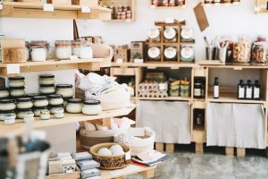 Ethical shopping in plastic free store