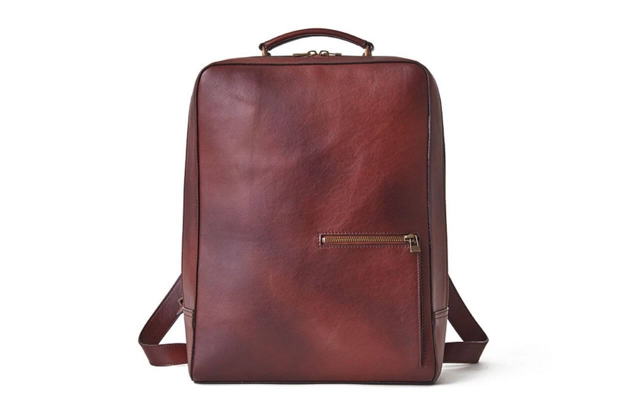 Motherhouse leather backpack as an ethical gift