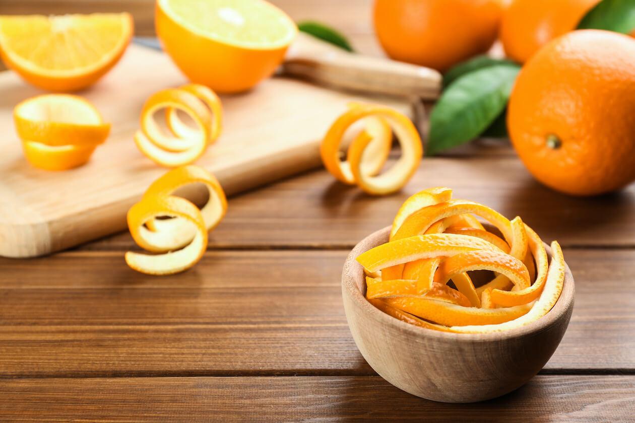Orange-peels are great upcycled food waste