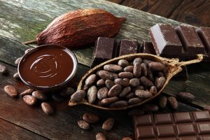 Fair Trade Cocoa beans and chocolate