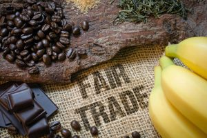 Food items that are produced with fair trade practices