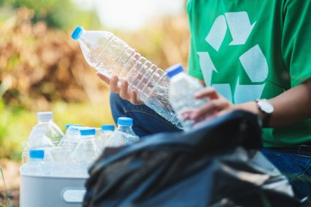 Recycling Water Bottle to reduce plastic pollution