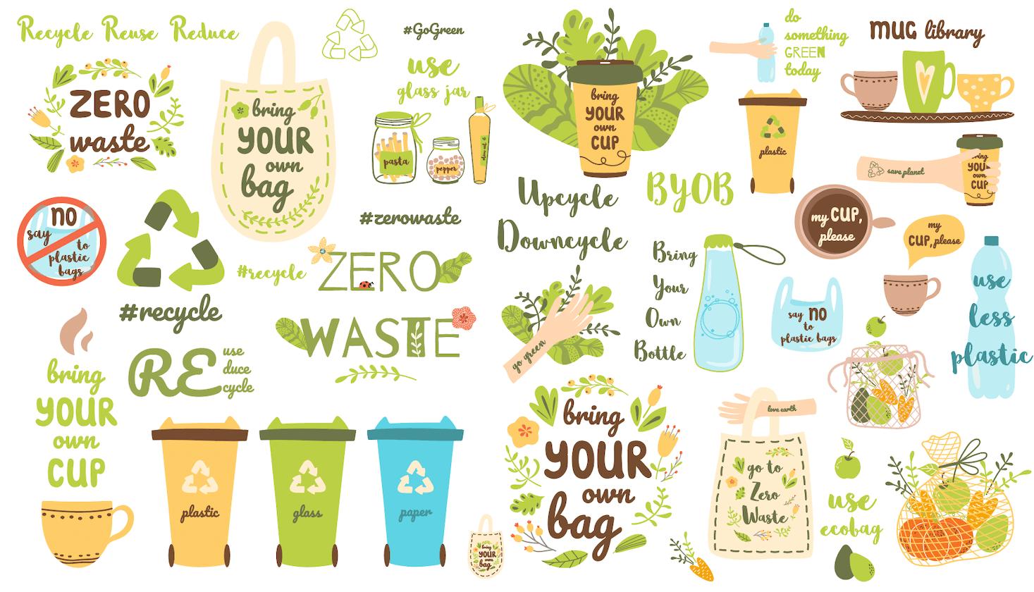 Zero waste graphics