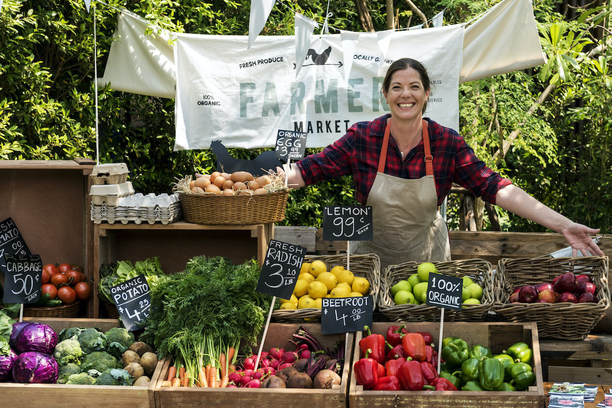 Farmer's market is a great place to get organic food