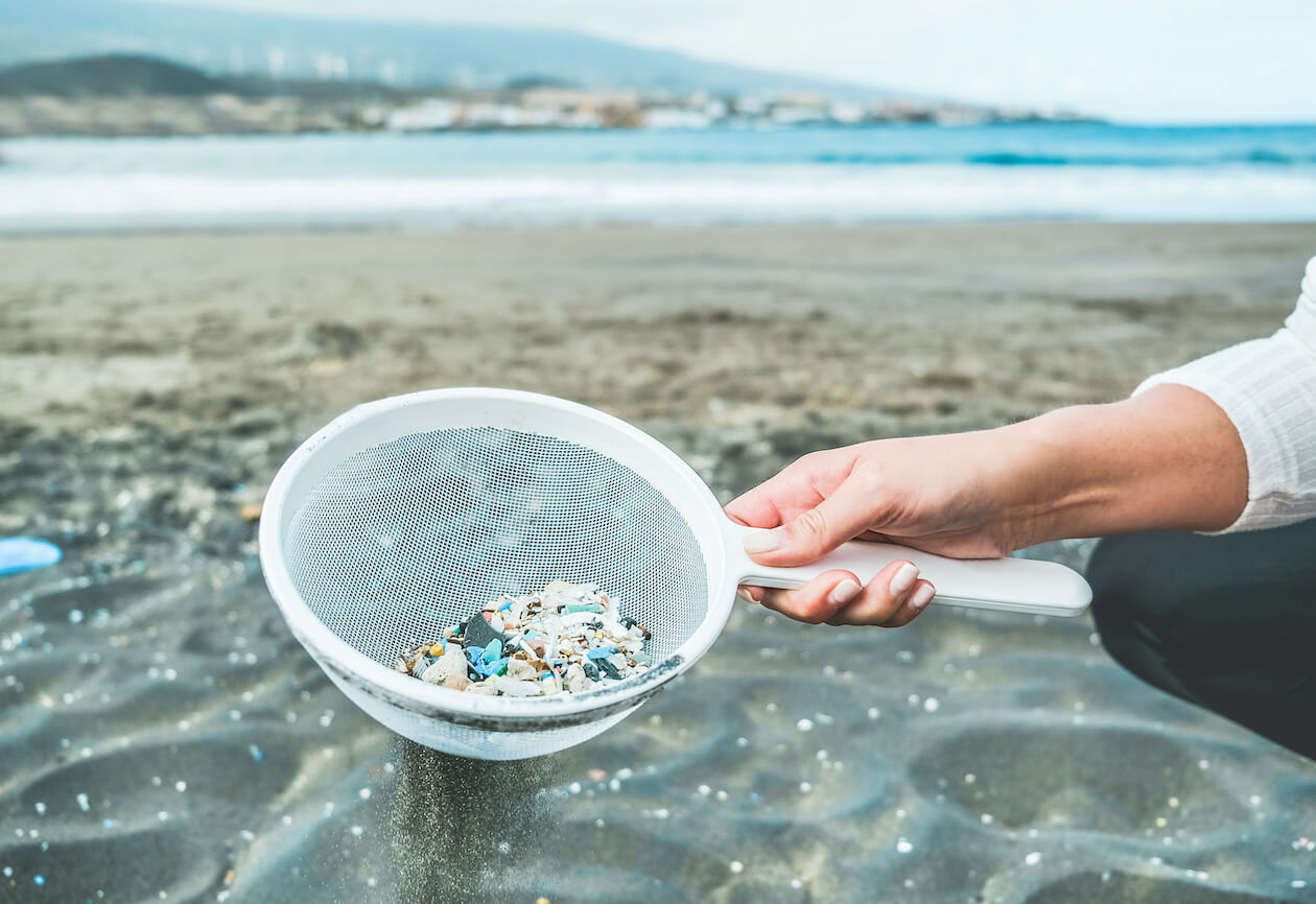 Microplastic is a big part of plastic pollution