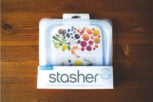 プラスチックフリーの保存容器、stasher