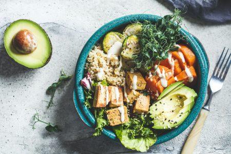 Delicious Vegan Food Bowl