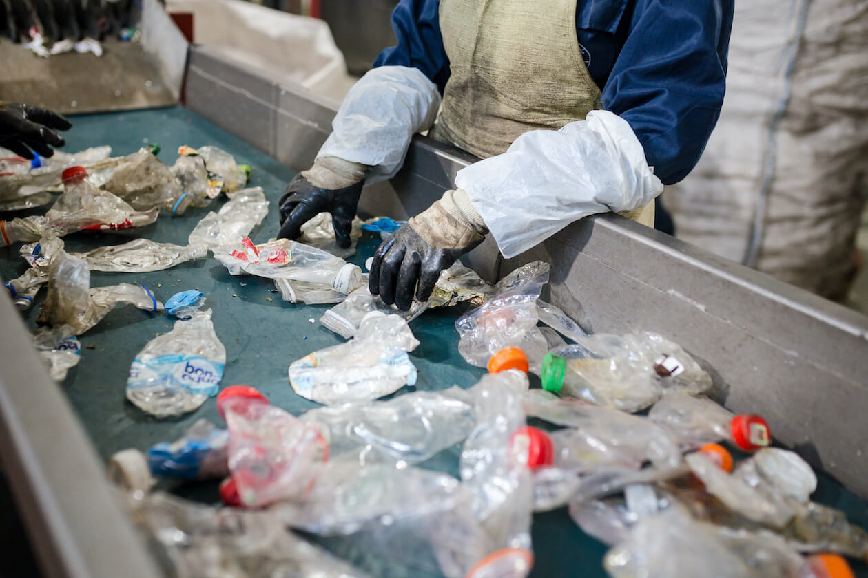 Recycling can still having waste end up in landfill