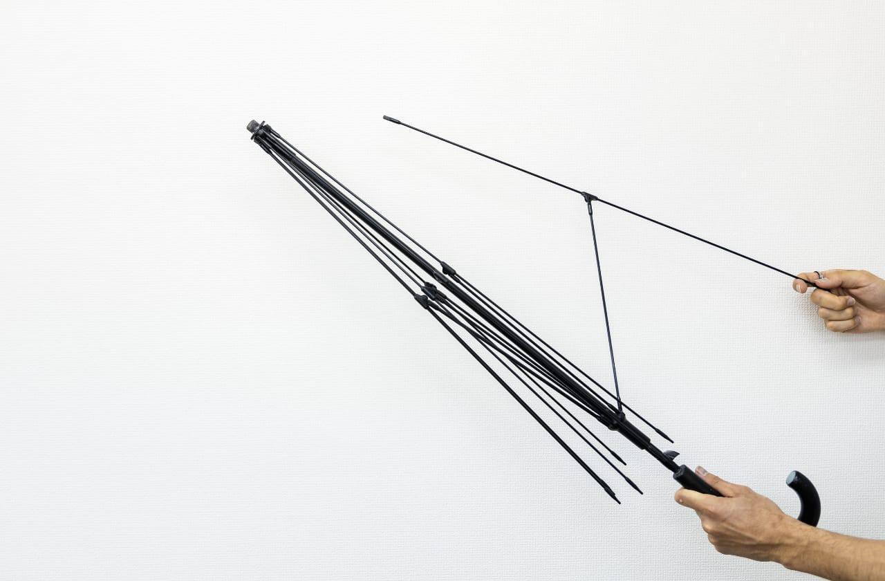 サエラさんが開発した傘の仕組み
