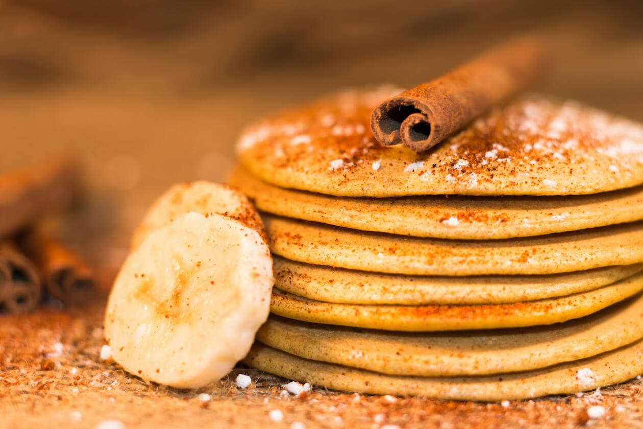 Spicy Vegan Holiday Breakfast: Cinnamon Pancakes