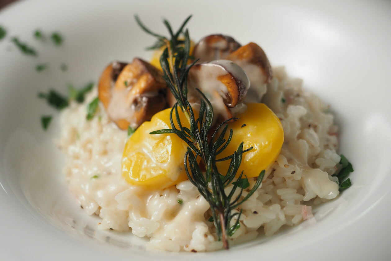 Hearty Chestnut Mushroom Risotto (Vegan Holiday Food)