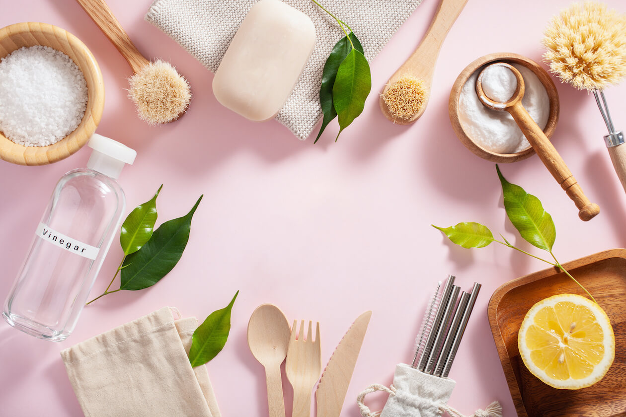 A variety of zero waste home products