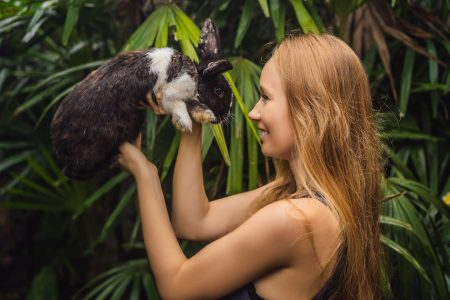 Cruelty Free Definition: Human and Rabbit