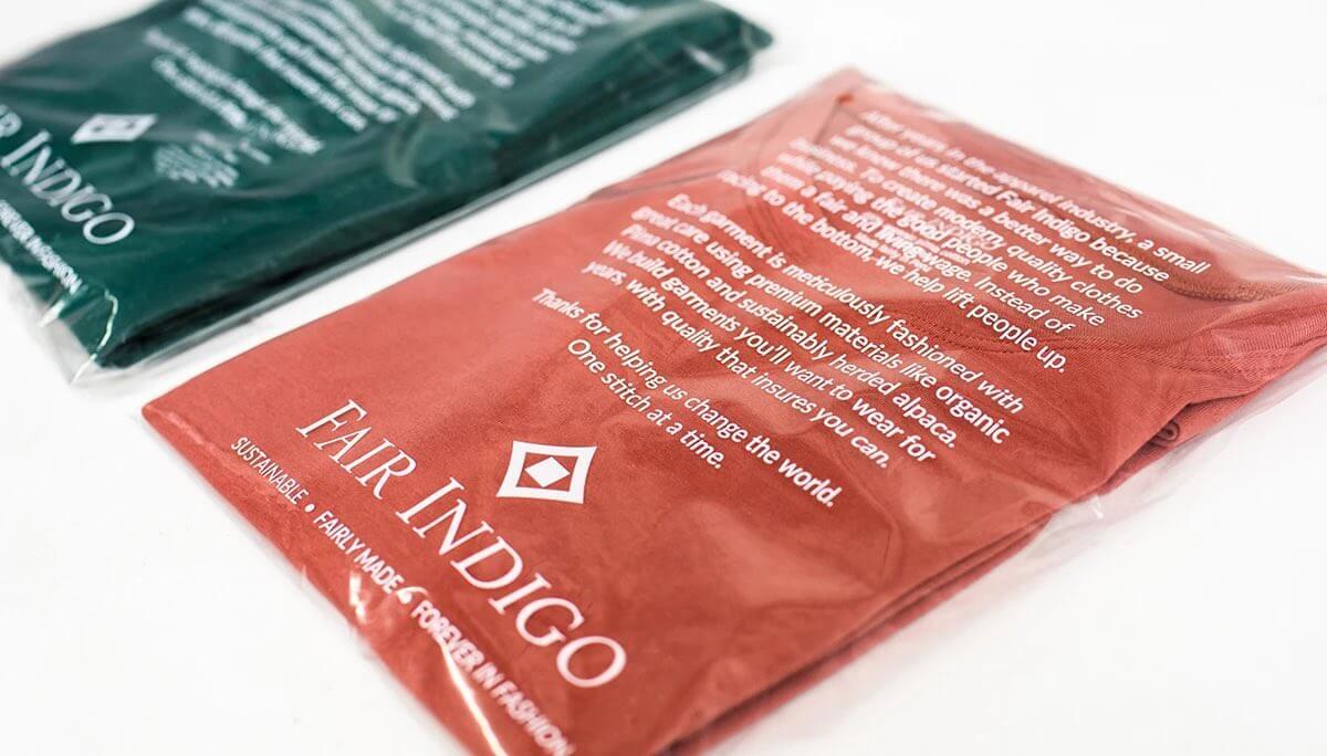 Fair trade material made clothes - fair indigo