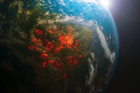 宇宙から見たアマゾン火災-Amazon rainforest fire