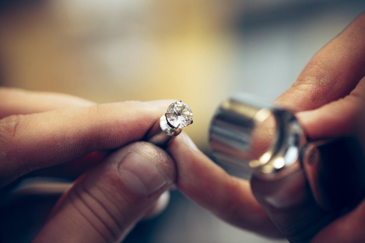 checking fair trade diamonds