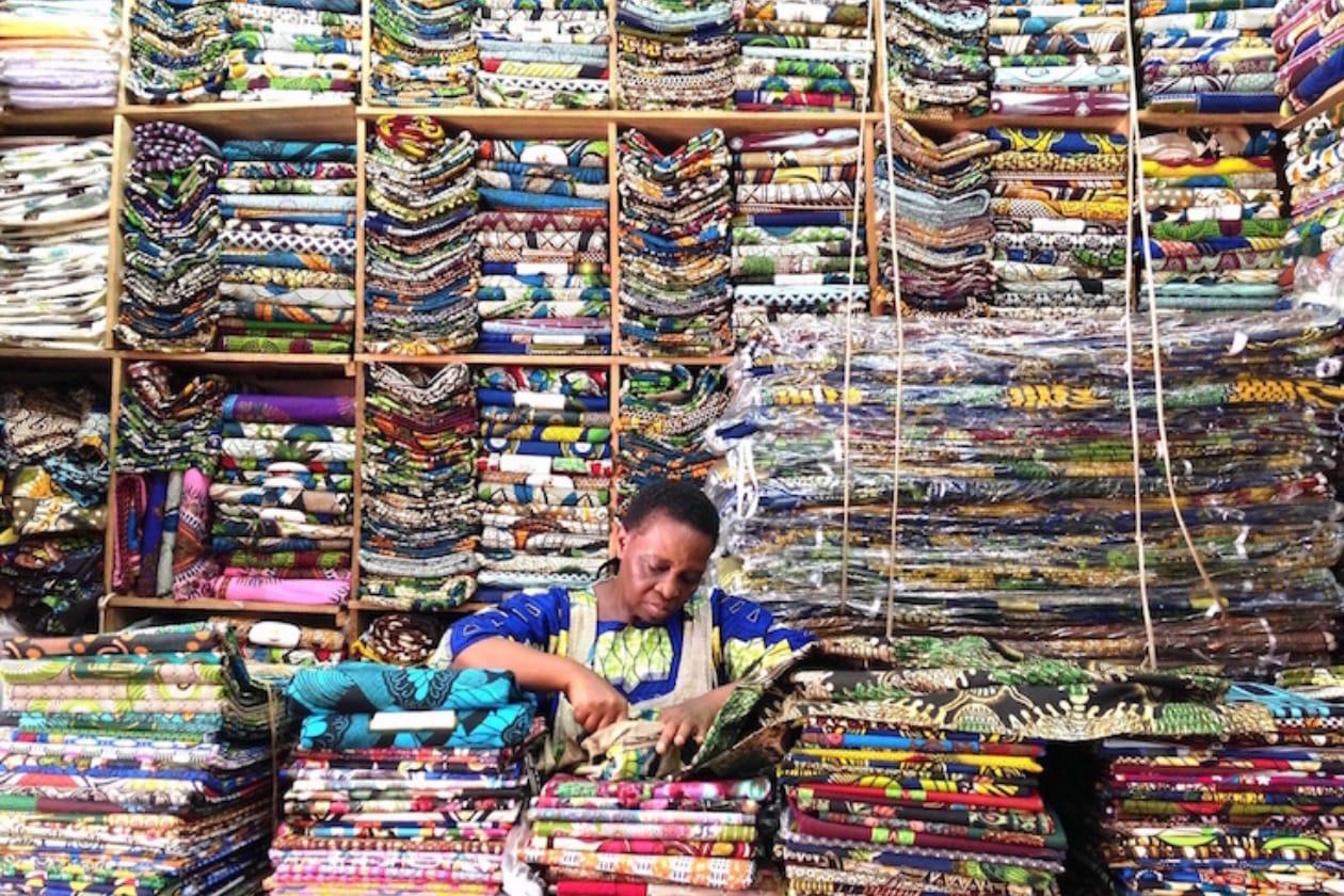 ウガンダのアフリカンプリントのお店