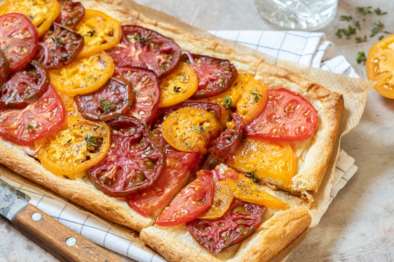 Delicious vegetable tart: vegan food easy recipe here