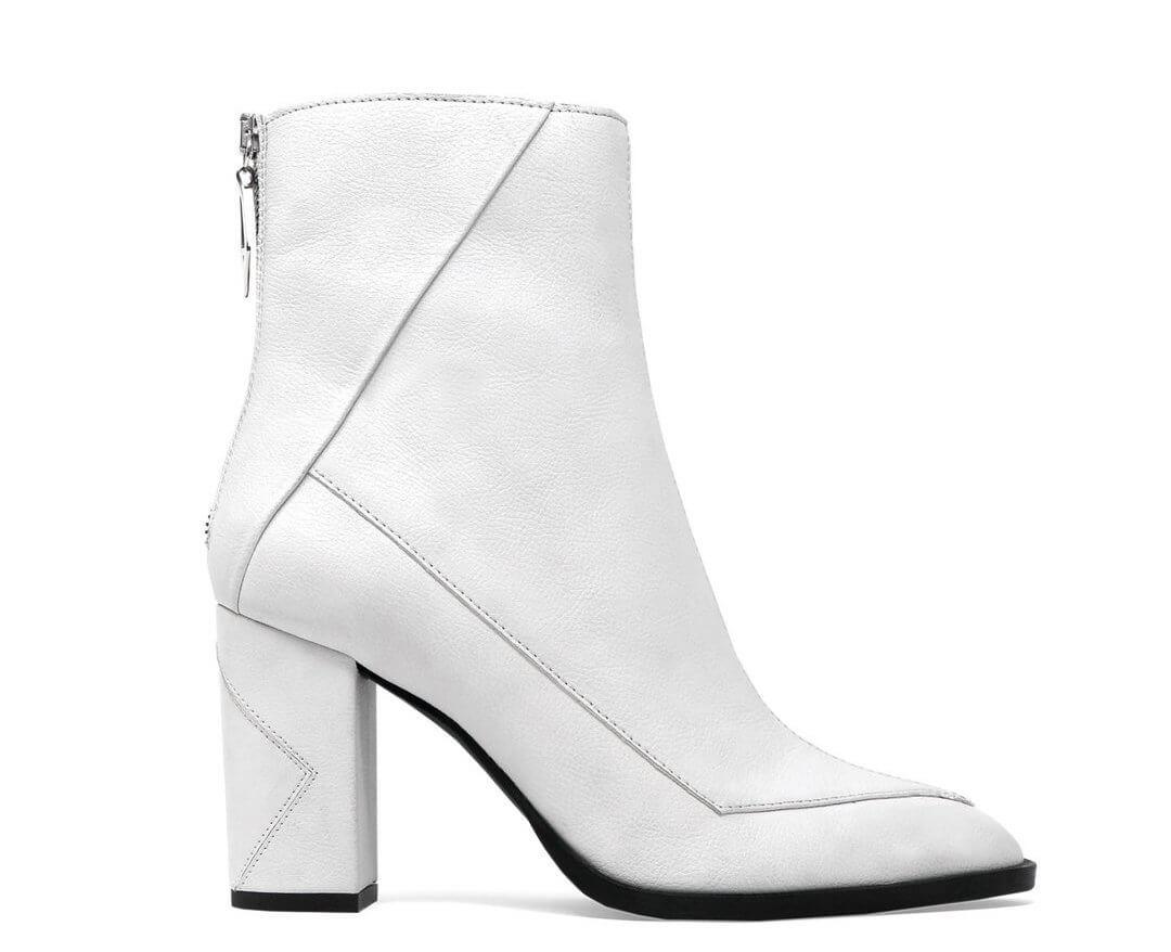 Ethical shoes - ALMASI white vegan apple leather