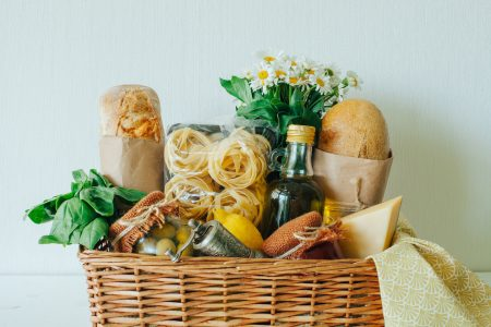 Delicious organic food as gifts