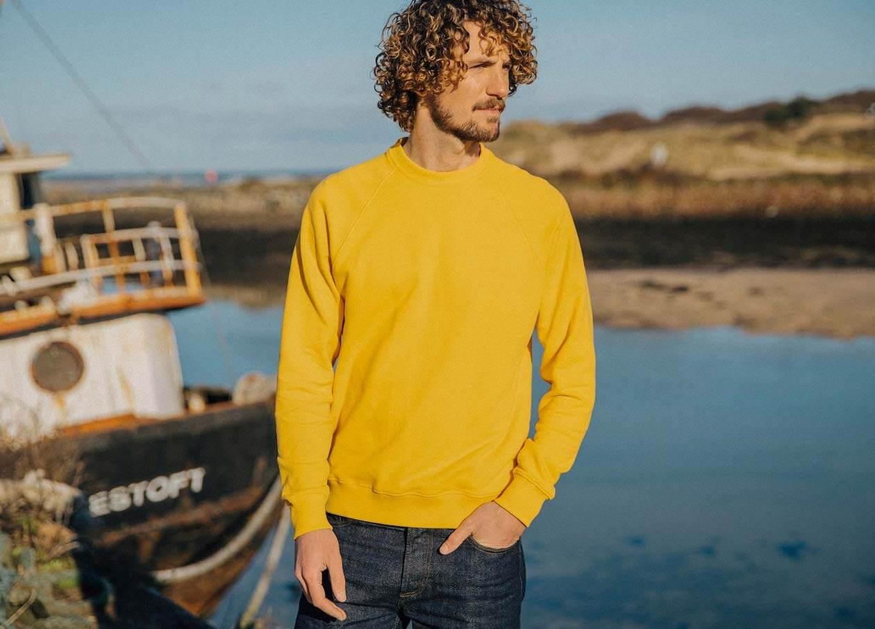 Finisterre's Yellow sweatshirts