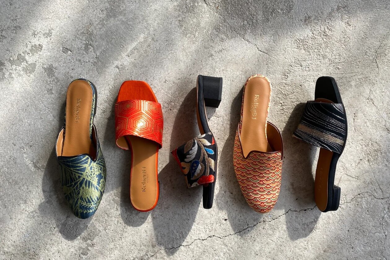 A variety of different ethical shoes from Relier 81
