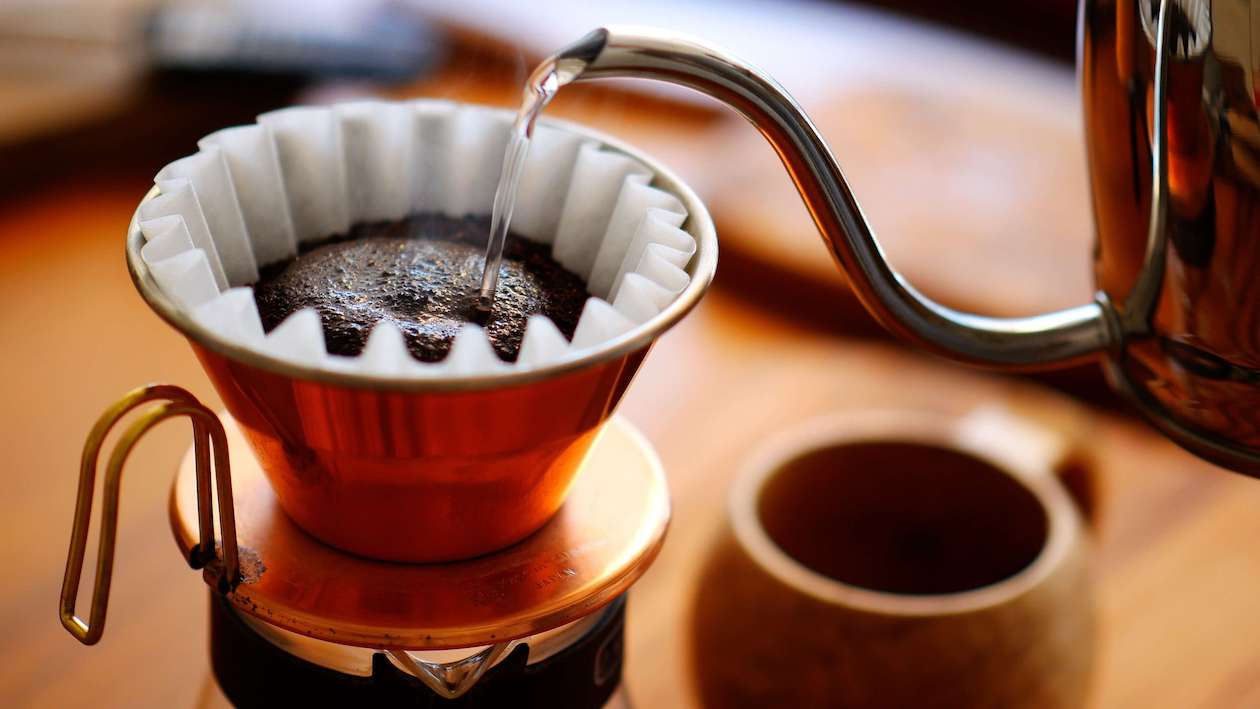 Brewing a nice cup of sustainable coffee
