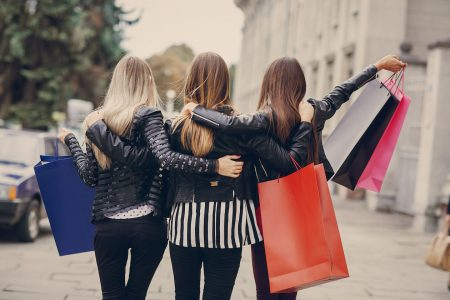 3 women shopping from women-owned brands