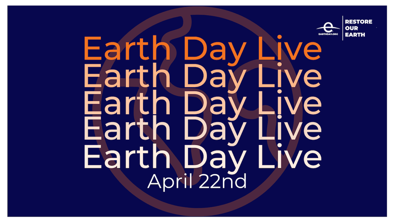 Earth Day Live Banner this year
