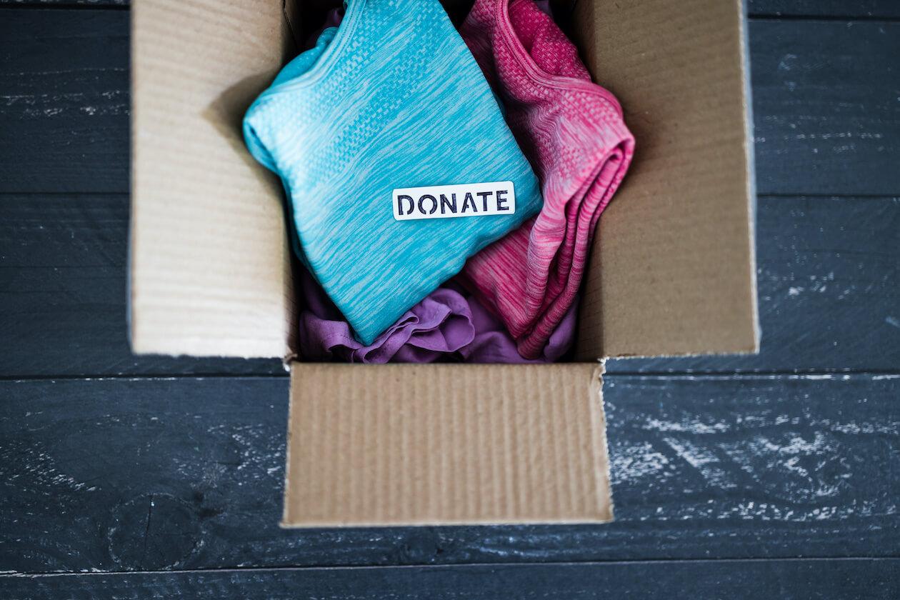 Donate your unworn clothes