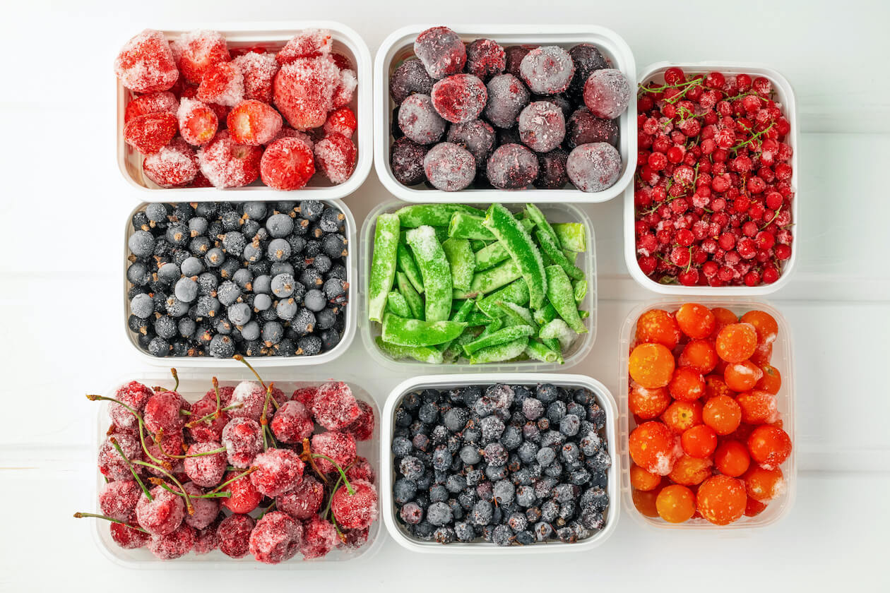 Frozen fruits are also food waste hack