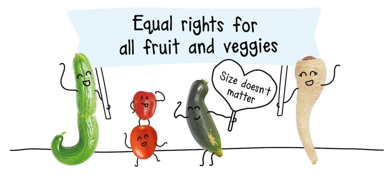Kromkommer's banner for their ugly vegetables