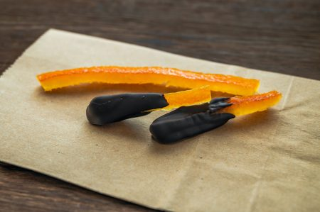 Upcycled Food - Citrus Peel with Chocolate dessert