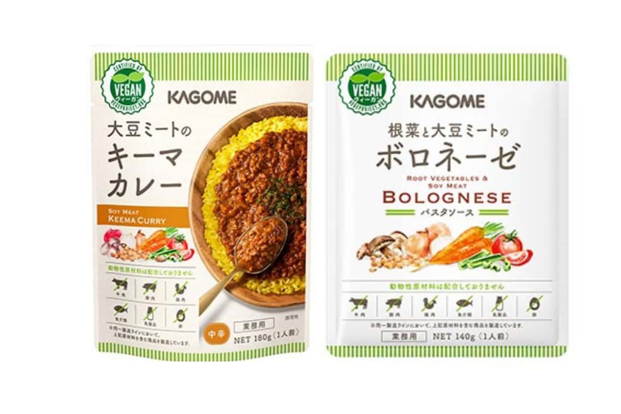 KAGOMEの大豆ミートの加工食品