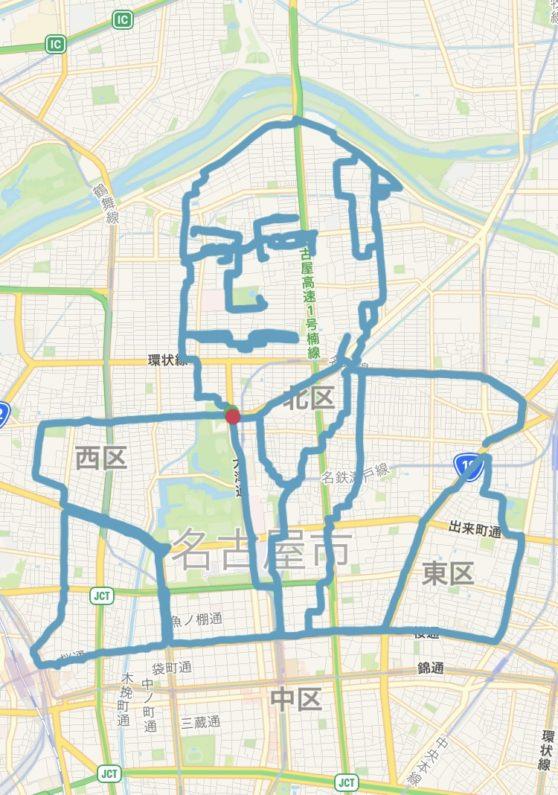 織田信長のGPSアート