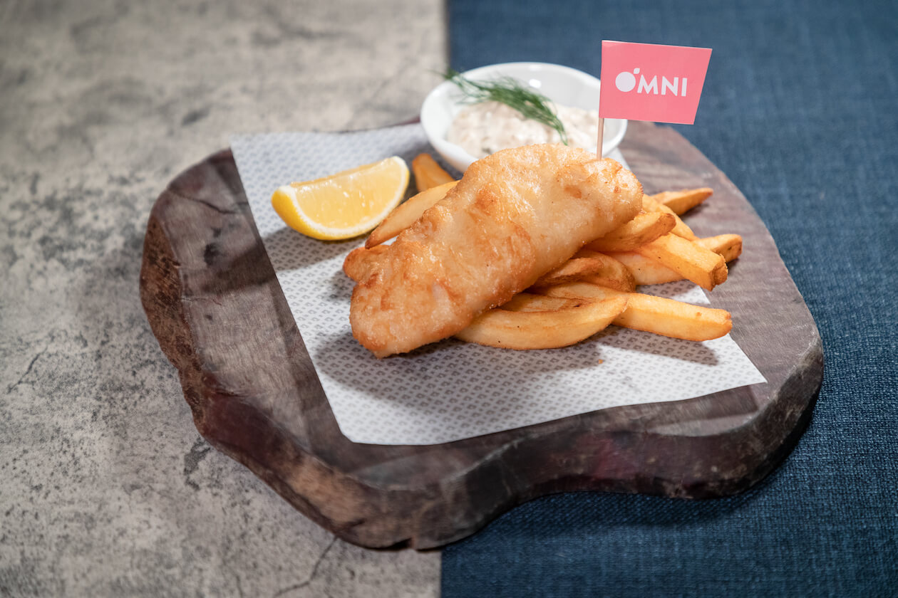 The Garbage Bar New Fish and Chips with Omni Golden Fillet
