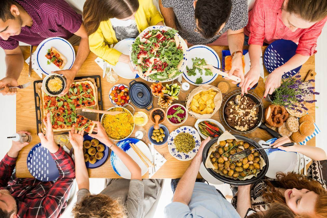 vegan food party is great during vegan month