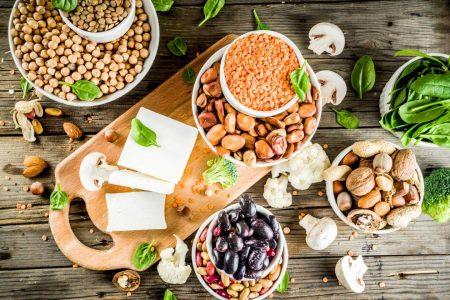 vegan food tofu beans seeds