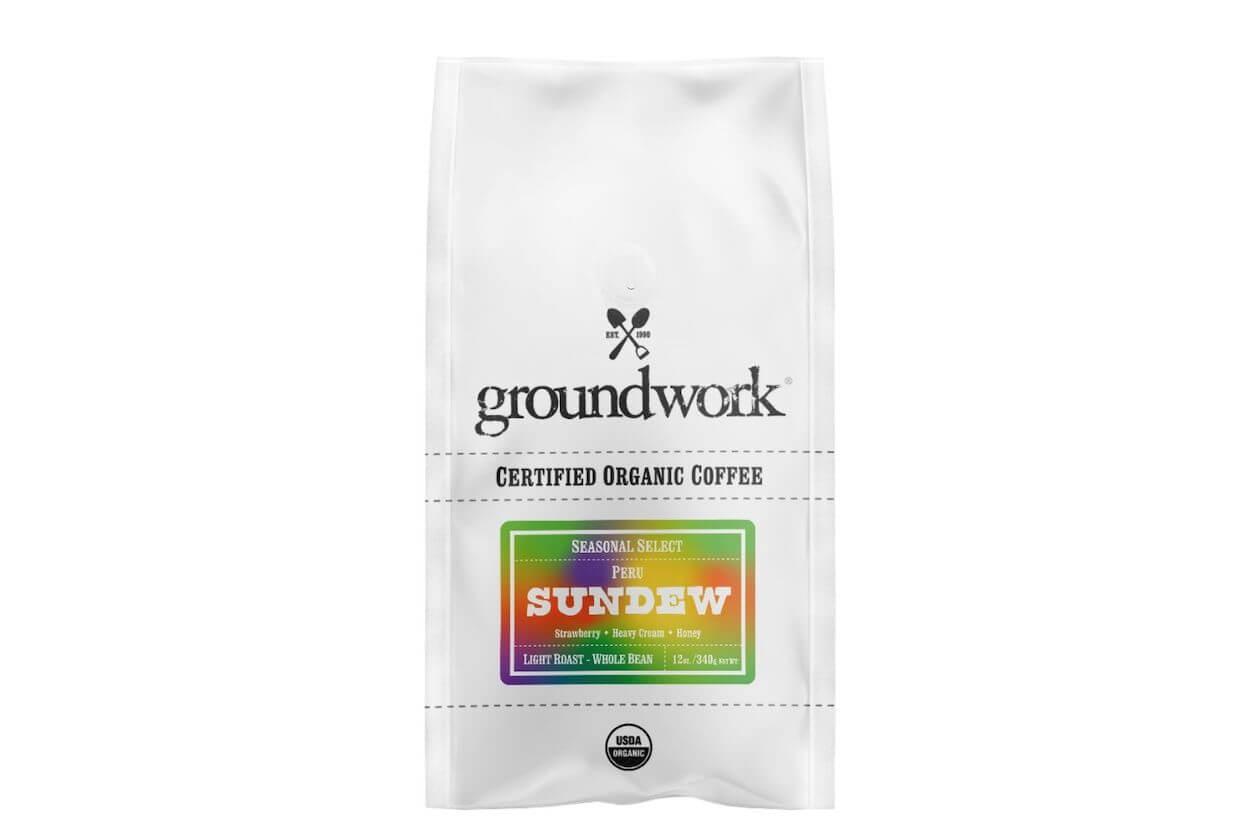 Groundwork Seasonal Selected Sundew Fair trade organic coffee beans