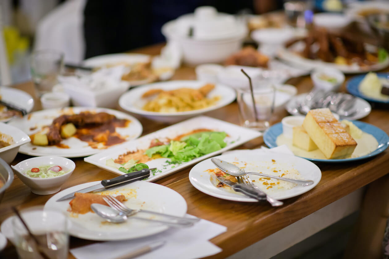 Leftover is the cause of restaurant food waste