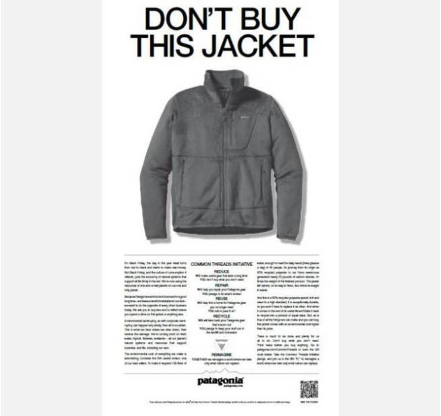 パタゴニアの「このジャケットを買わないで」