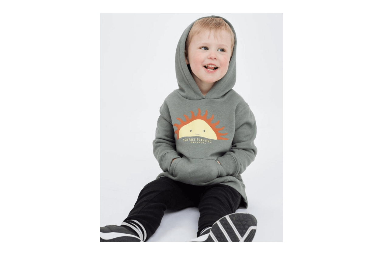 Tentree is a fair trade brand with women, men, and children's clothes